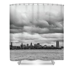 A Rotten Day In Buffalo  9230 Shower Curtain by Guy Whiteley