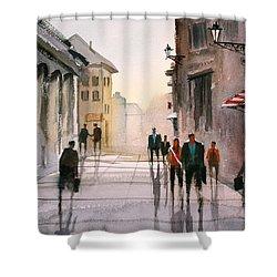 A Stroll In Italy Shower Curtain by Ryan Radke