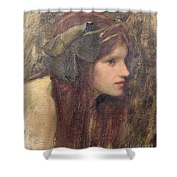 A Study For A Naiad Shower Curtain by John William Waterhouse