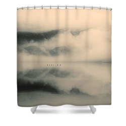 A Study Of Clouds Shower Curtain by Tara Turner