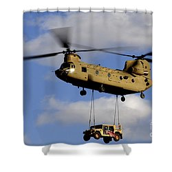 A U.s. Army Ch-47 Chinook Helicopter Shower Curtain by Stocktrek Images