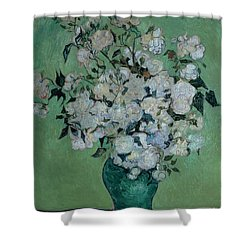 A Vase Of Roses Shower Curtain by Vincent van Gogh