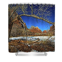 A View In Zion Shower Curtain by Christopher Holmes