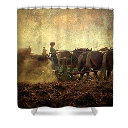A Woman's Work Is Never Done Shower Curtain by Trish Tritz