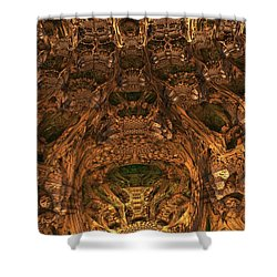 Abandon All Hope Ye Who Enter Here Shower Curtain by Lyle Hatch