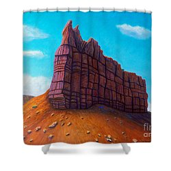 Abiquiu Shower Curtain by Brian  Commerford