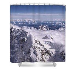 Above Denali Shower Curtain by Chad Dutson