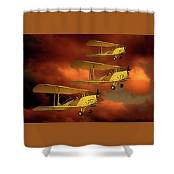 Above The Red Skys Shower Curtain by Steven Agius