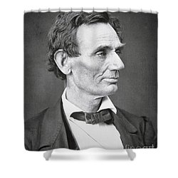 Abraham Lincoln Shower Curtain by Alexander Hesler