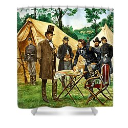 Abraham Lincoln Plans His Campaign During The American Civil War  Shower Curtain by Peter Jackson