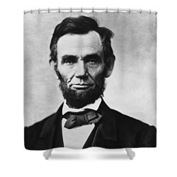 Abraham Lincoln Shower Curtain by War Is Hell Store