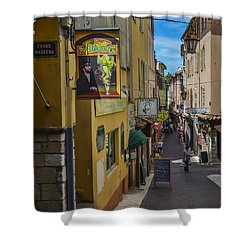 Absinthe In Antibes Shower Curtain by Allen Sheffield