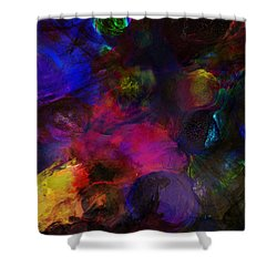 Abstract 042711a Shower Curtain by David Lane