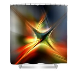 Abstract 060310a Shower Curtain by David Lane
