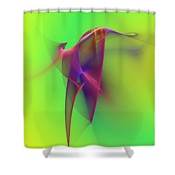 Abstract 091610 Shower Curtain by David Lane
