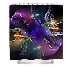 Abstract 112211 Shower Curtain by David Lane