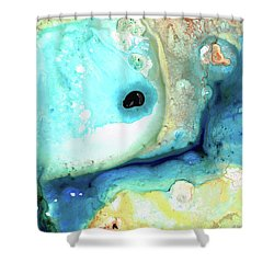 Abstract Art - Holding On - Sharon Cummings Shower Curtain by Sharon Cummings