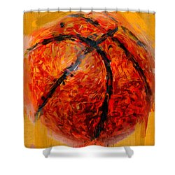 Abstract Basketball Shower Curtain by David G Paul