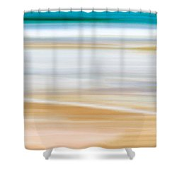 Shower Curtain featuring the painting Abstract Beachscape by Frank Tschakert