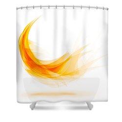 Abstract Feather Shower Curtain by Setsiri Silapasuwanchai