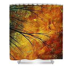 Abstract Landscape Art Passing Beauty 5 Of 5 Shower Curtain by Megan Duncanson