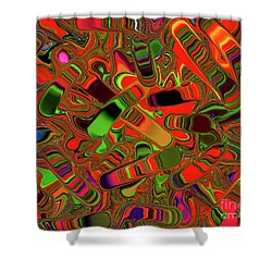 Abstract Rainbow Slider Explosion Shower Curtain by Andee Design