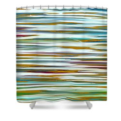 Shower Curtain featuring the painting Abstract Water Reflection by Frank Tschakert