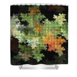 Abstract World Shower Curtain by Deborah Benoit