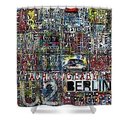 Achtung Baby Shower Curtain by Frank Van Meurs