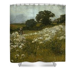 Across The Fields Shower Curtain by John Mallord Bromley
