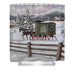 Across The Miles Shower Curtain by Richard De Wolfe