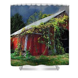 Adams County Winery Shower Curtain by Lori Deiter