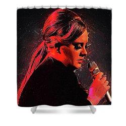 Adele Shower Curtain by Semih Yurdabak