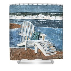 Adirondack Chair Shower Curtain by Debbie DeWitt
