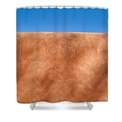 Adobe Wall Santa Fe Shower Curtain by Steve Gadomski