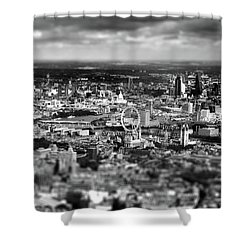 Aerial View Of London 6 Shower Curtain by Mark Rogan