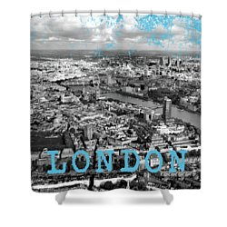 Aerial View Of London Shower Curtain by Mark Rogan
