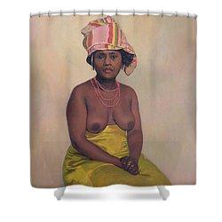 African Woman Shower Curtain by Felix Edouard Vallotton