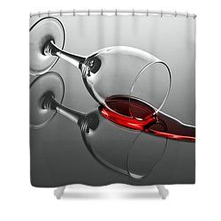 After The Party Shower Curtain by Gert Lavsen