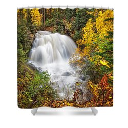 After The Rain Shower Curtain by Ed Boudreau