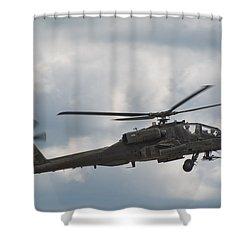 Ah-64 Apache Shower Curtain by Sebastian Musial