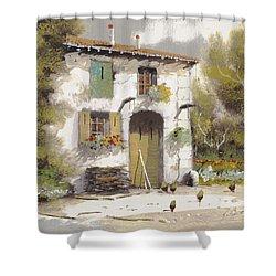 AIA Shower Curtain by Guido Borelli