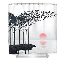 Aki Shower Curtain by Cynthia Decker