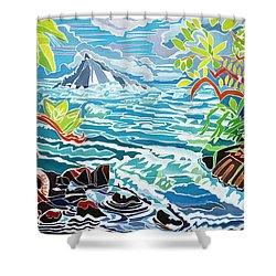 Alau Island Shower Curtain by Fay Biegun - Printscapes