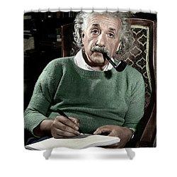 Albert Einstein Shower Curtain by Granger