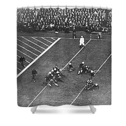 Albie Booth Kick Beats Harvard Shower Curtain by Underwood Archives