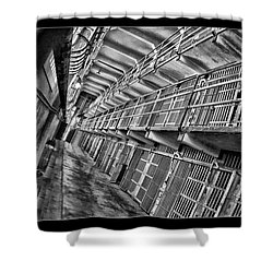 Alcatraz The Cells Shower Curtain by Blake Richards