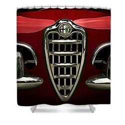 Alfa Red Shower Curtain by Douglas Pittman