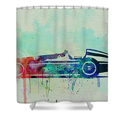 Alfa Romeo Tipo Watercolor Shower Curtain by Naxart Studio