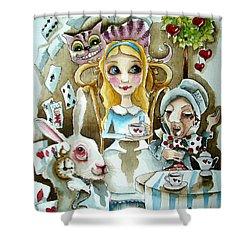 Alice In Wonderland 1 Shower Curtain by Lucia Stewart